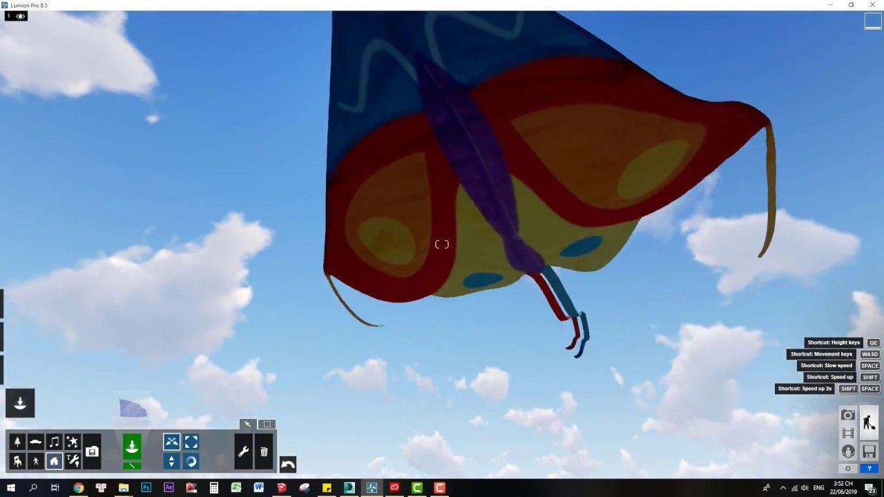 How to create an animated kite in lumion Glass painting