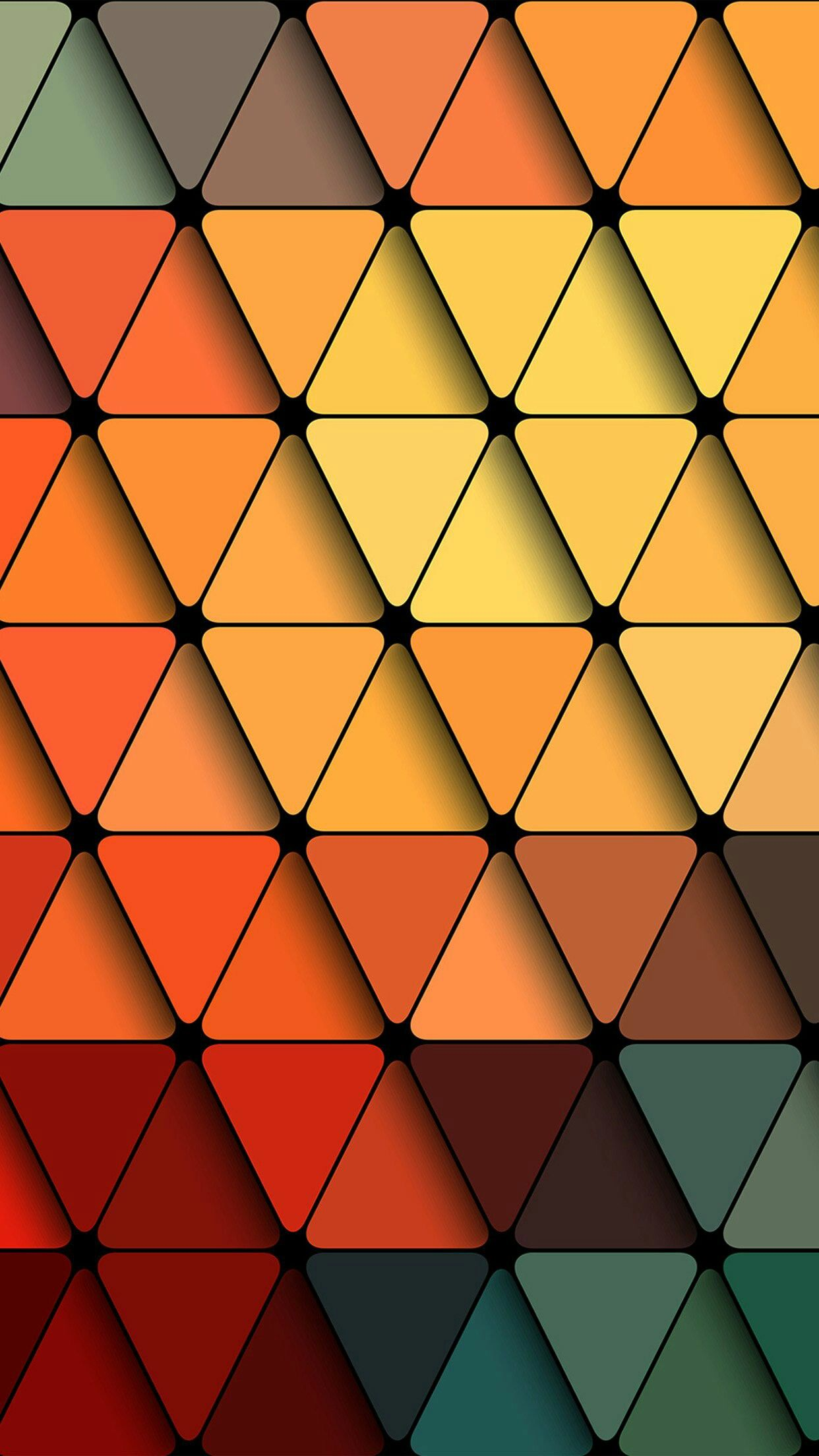 Coloful Triangle Grid Wallpaper Abstract