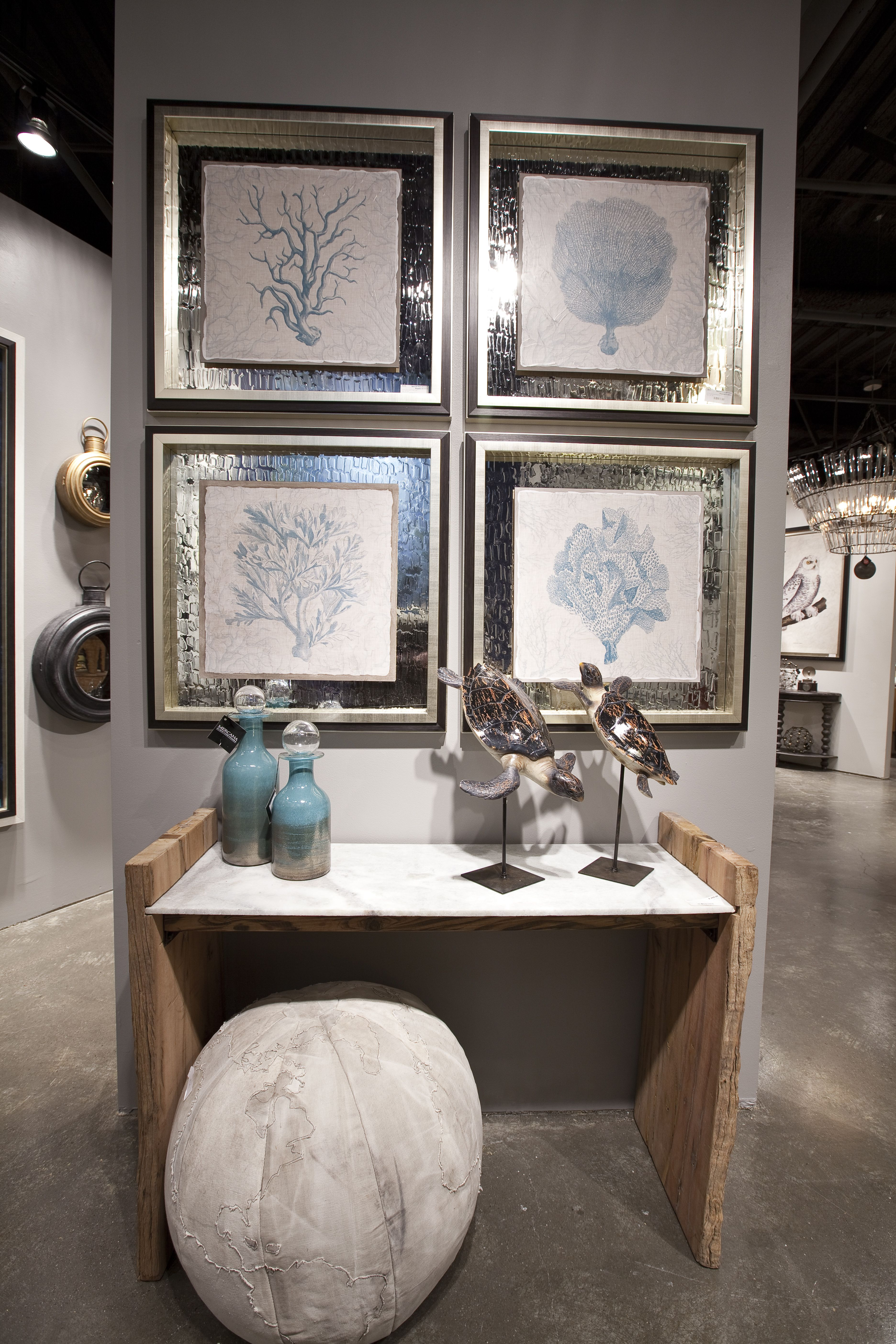 featuring our coral motif framed art series framed decograph with featuring our coral motif framed art series framed decograph with antique leather texture on the