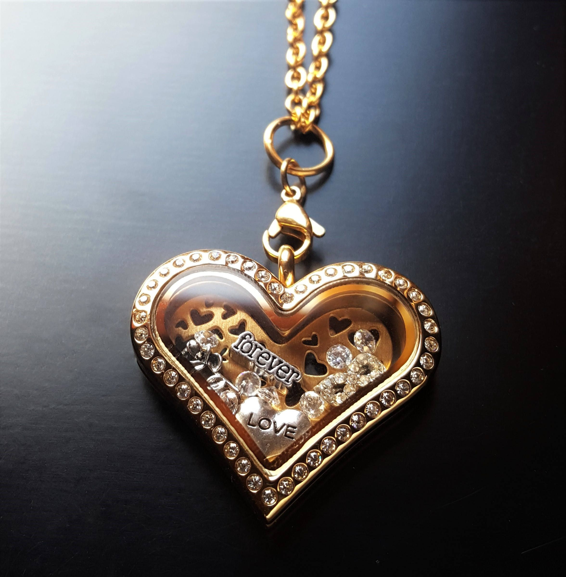 'Love' Floating Locket Charm