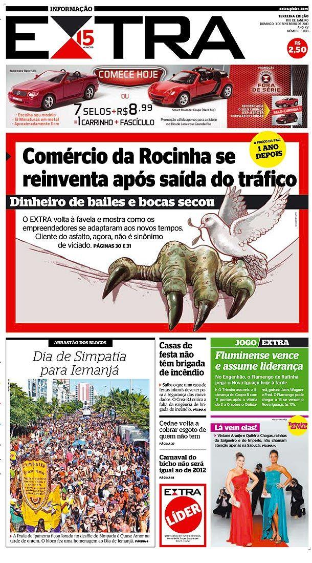03-02-2013 - Capas do Jornal Extra - Extra Online