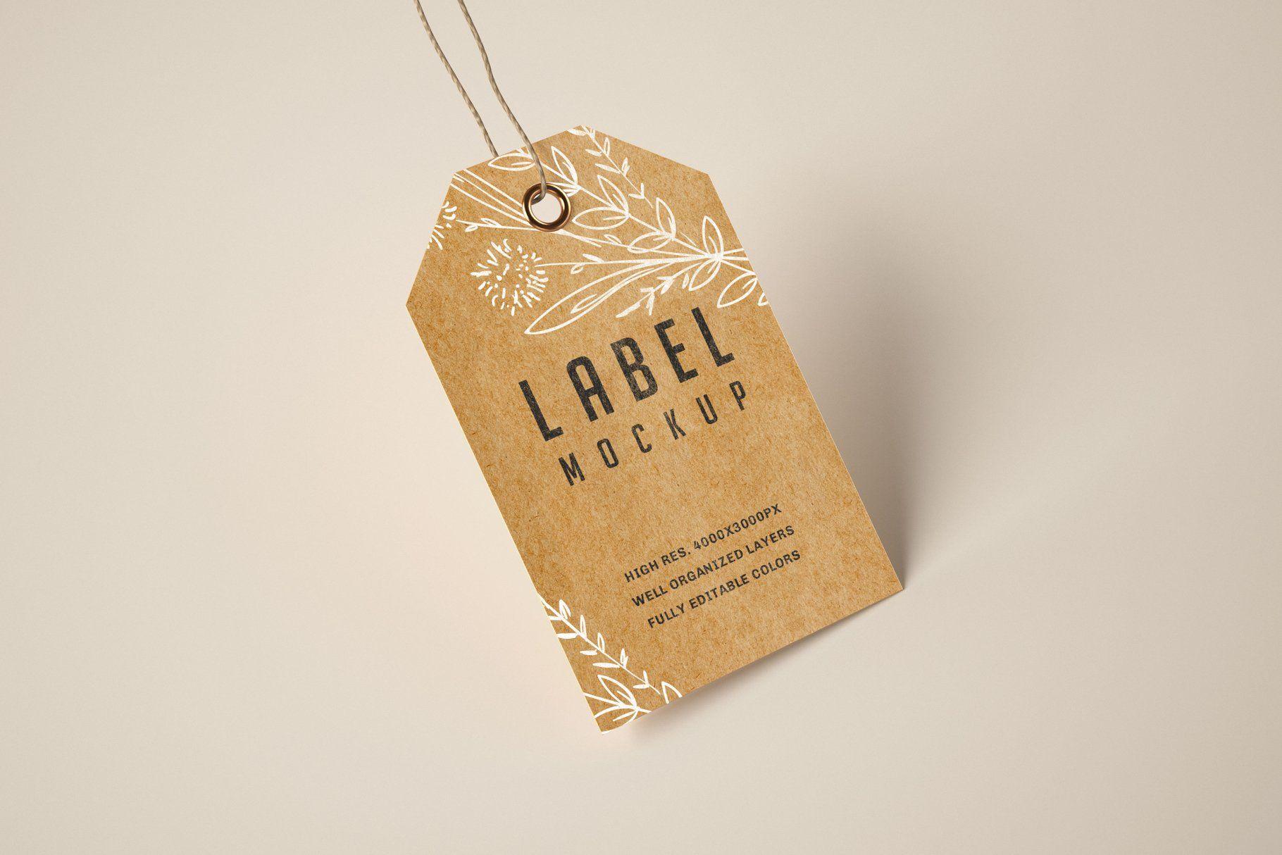Paper Kraft Label Tag Mockup Set In 2021 Kraft Labels Business Card Design Photography Labels