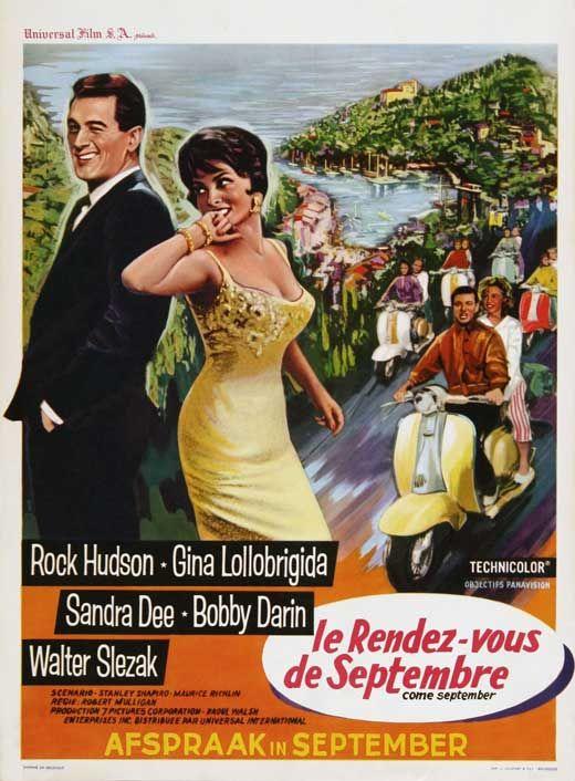 Le Rendez-vous De Septembre : rendez-vous, septembre, September, Movie, Posters, Poster, Posters,, Hudson,, Lollobrigida