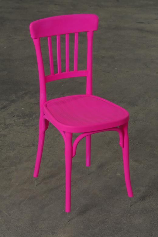 neon pink chair roman exercises pin by positively present on brights furniture hot manfred kuttner funky kitchen design painted