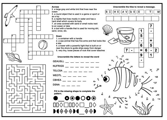 Activity Sheets For 8 Year Olds Any Themes Activity Sheets For Kids,  Printable Activities For Kids, Fun Worksheets For Kids