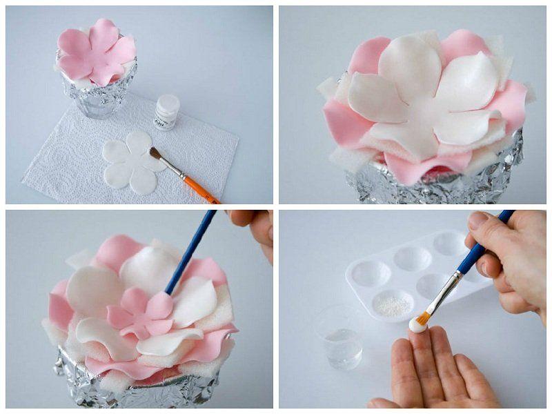 Как сделать цветы своими руками. Из:бумаги, лент, ткани 99
