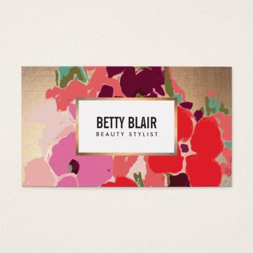 Elegant vintage painted floral art designer business card business elegant vintage painted floral art designer business card reheart Gallery