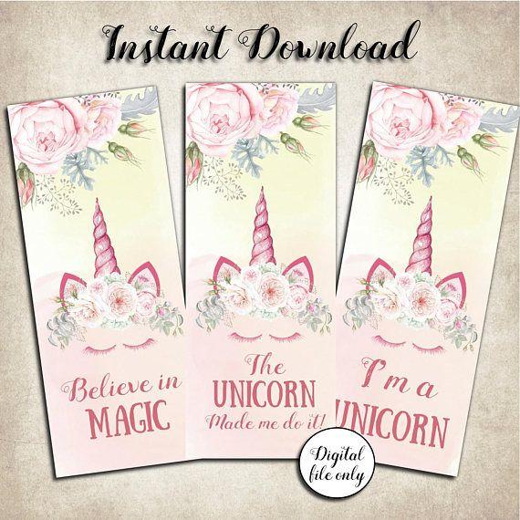 printable unicorn bookmarks # 18