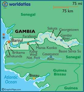 The Gambia in North AfricaVicki and Jims Jake is heading there