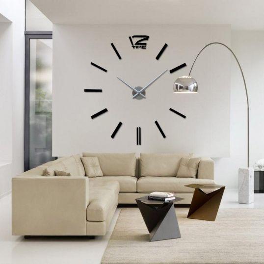 Naklejany Zegar Scienny Diy 3d Czarny 70 130 Cm Home Decor Decor Wall