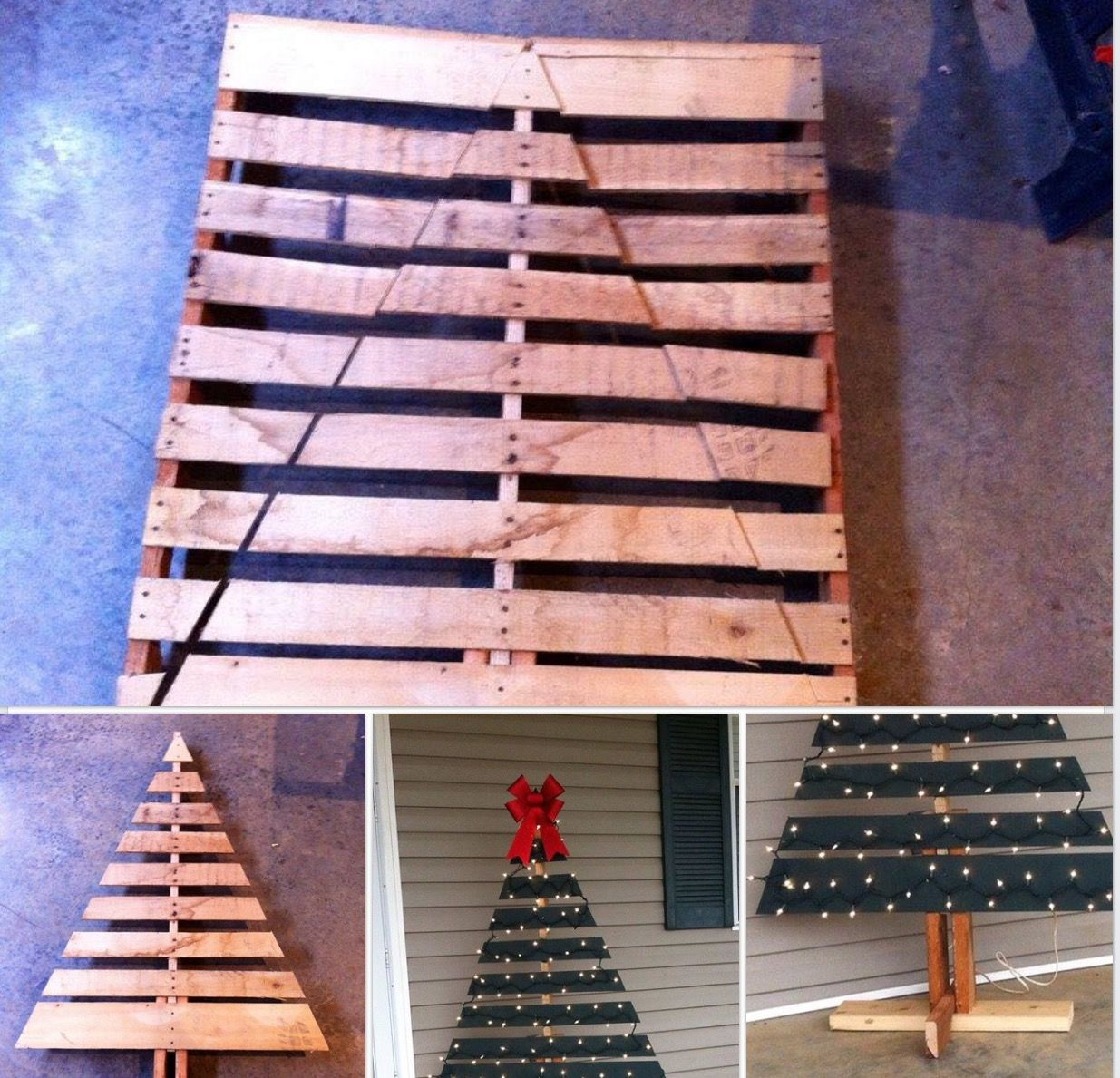 Christmas tree made from pallets pallet projects Christmas trees made out of wood