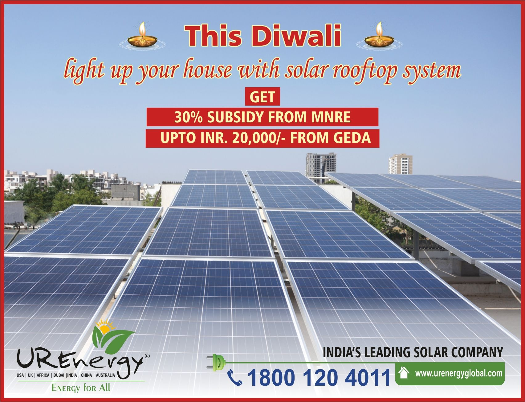 This Diwali Light Up Your House With Solar Rooftop System Get 30 Subsidy From Mnre Upto Inr 20 000 From Ged Diwali Lights Roof Solar Panel Solar