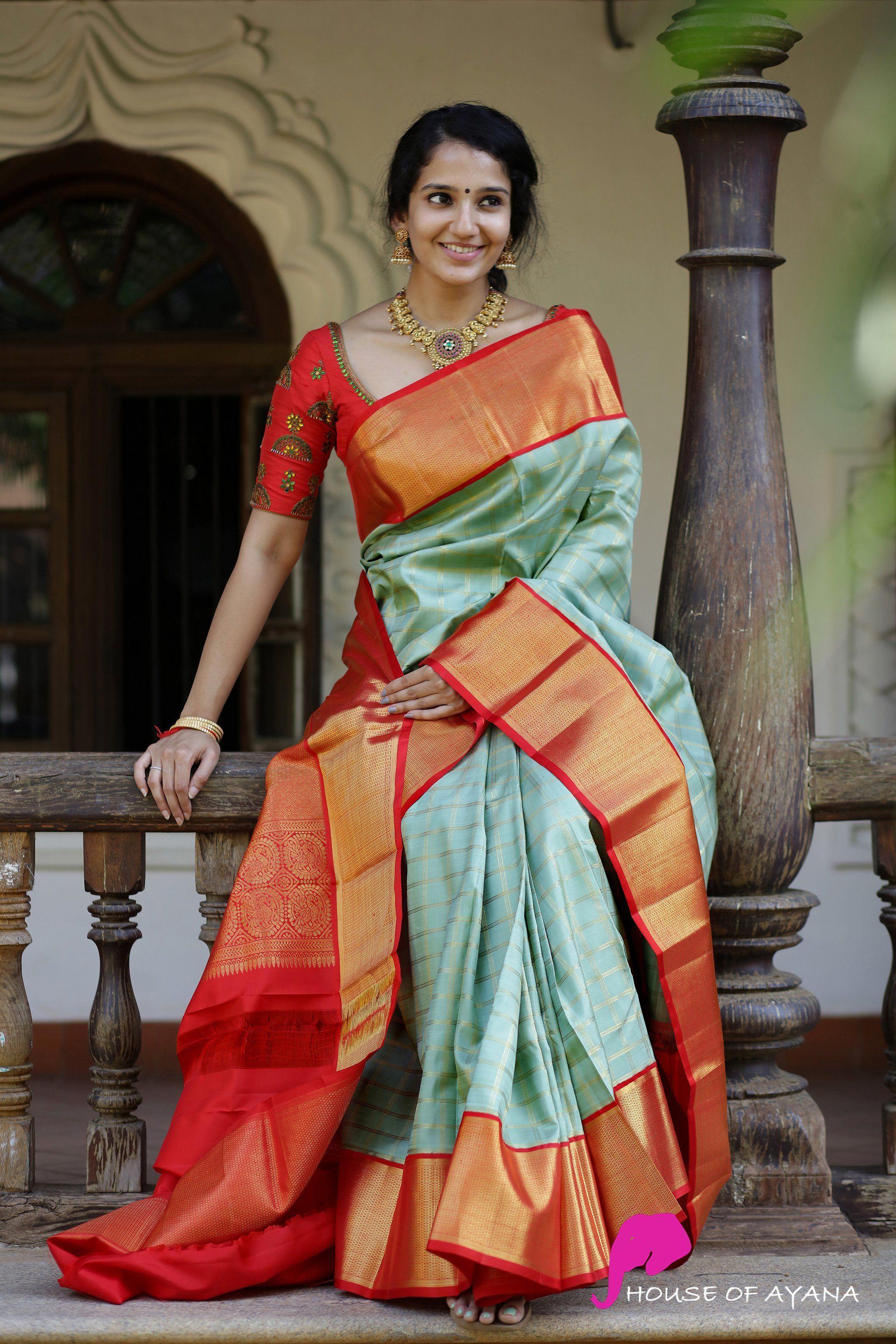Kanchipuram Silk Sarees Shop In Chennai Bridal Kanchipuram Sarees House Of Ayana Kanjiv In 2020 Silk Saree Blouse Designs Kanjivaram Sarees Silk Bridal Silk Saree
