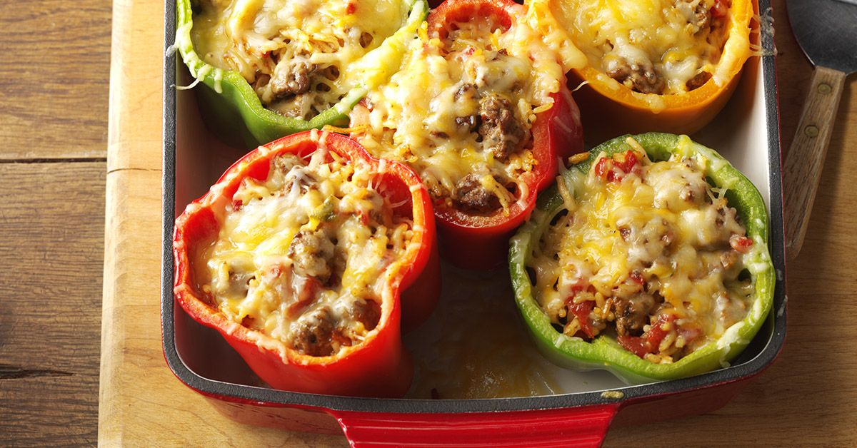 Mexican Stuffed Peppers Recipe Stuffed Peppers Beef Recipes Recipes
