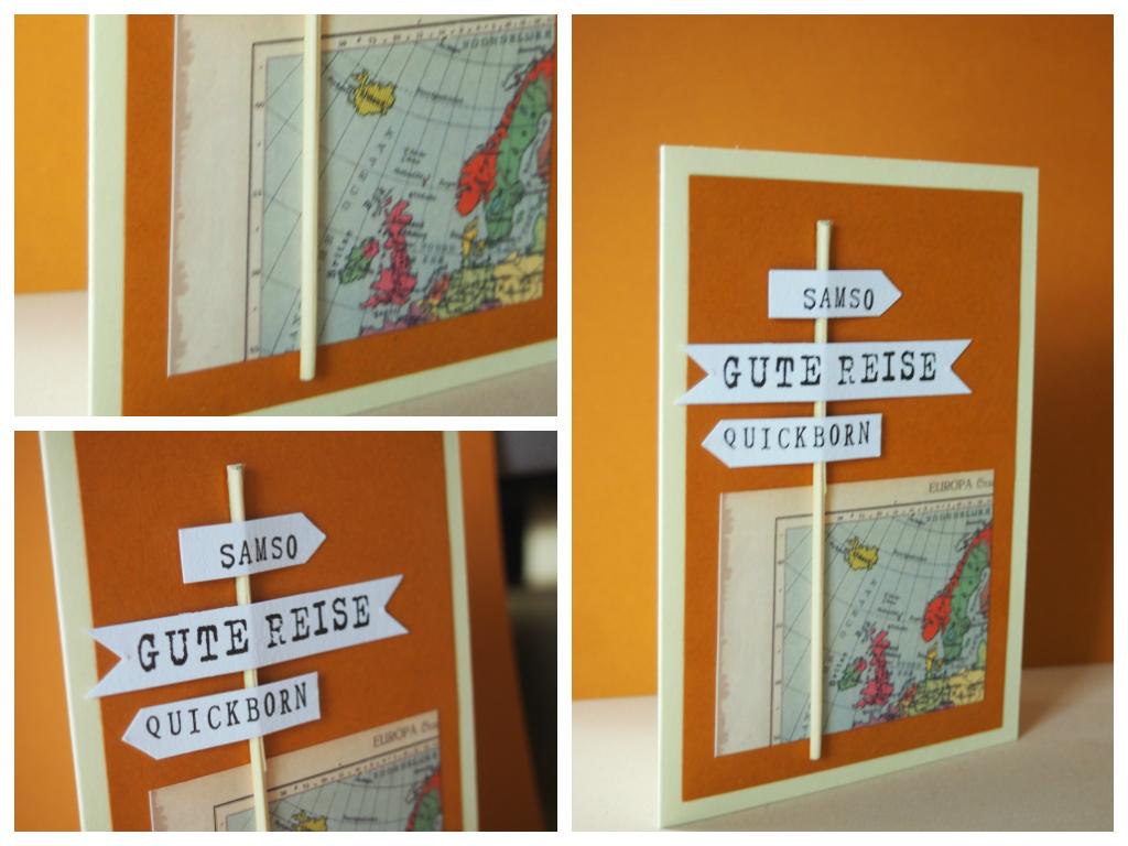 Papierschneiderin Gute Reise Karte  Geburtstag  Papier schneider Karten und Gute reise