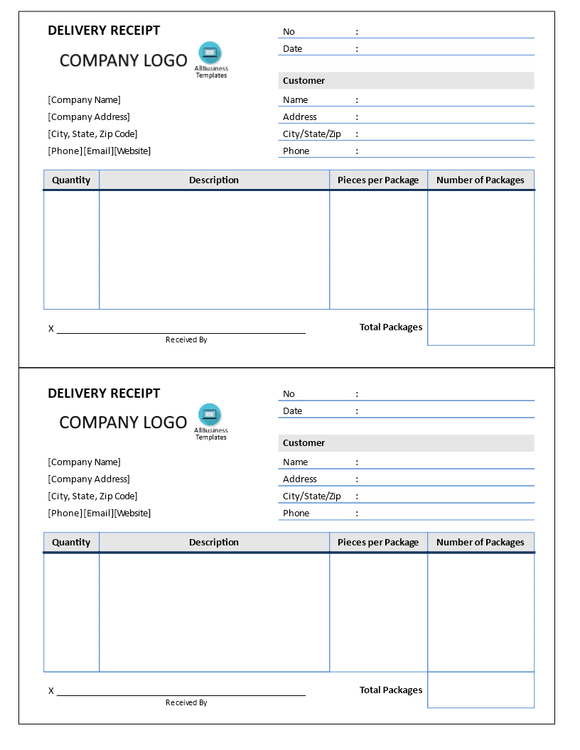 Delivery Receipt Delivery Receipt Standard Template Form Templates Notes Template Receipt Template