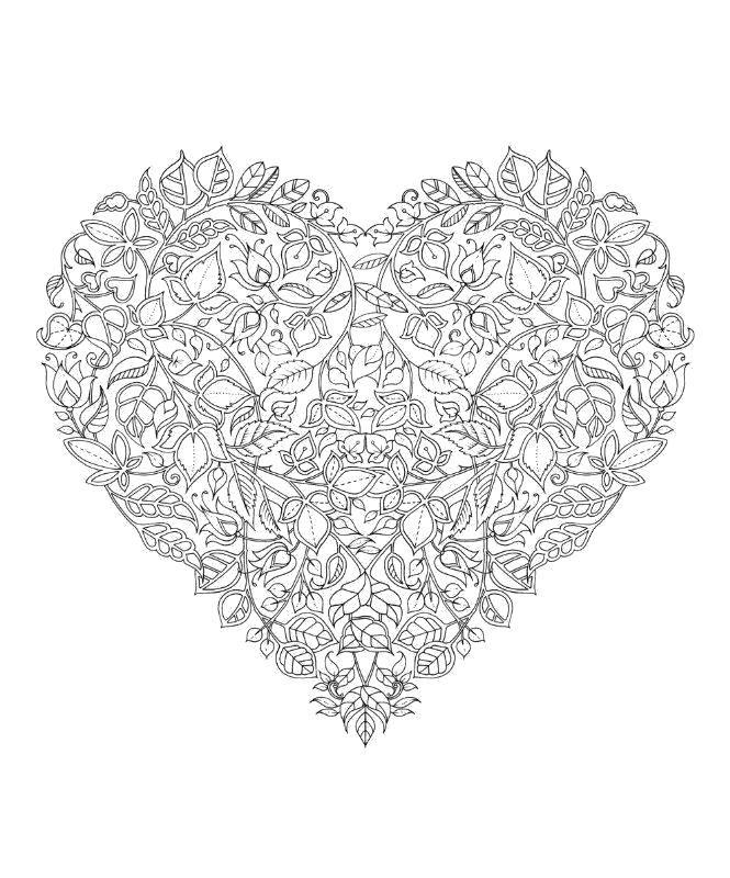 Название: Раскраска Сердце из цветов. Категория ...