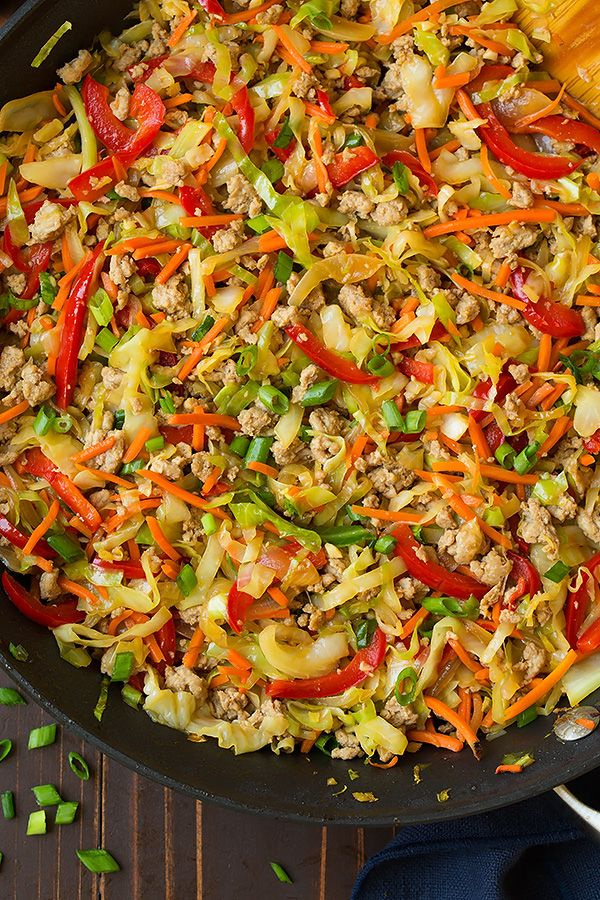 Egg Roll Skillet #cabbagestirfry
