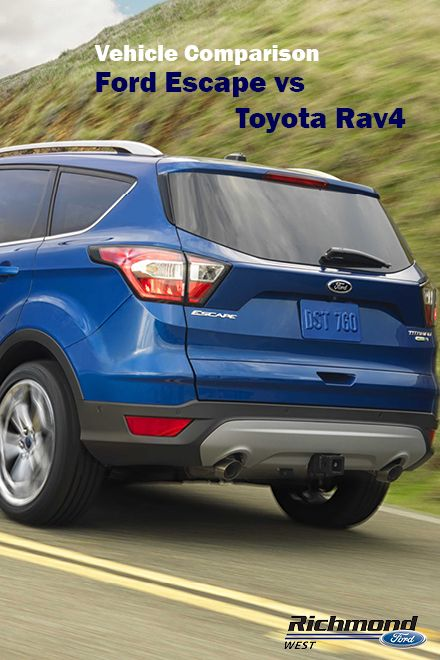 Ford Escape Vs Toyota Rav4 In This Vehicle Comparison Ford
