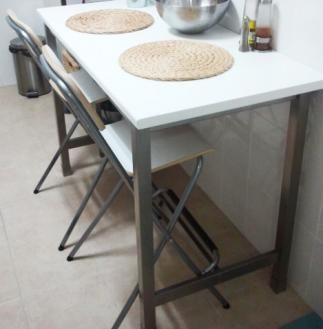 Taburete bar, plegable, blanco, gris plata FRANKLIN | Loft / Studio ...