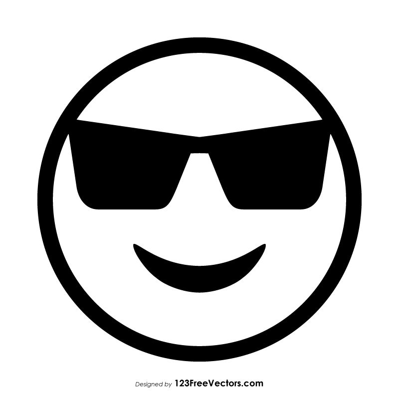 Smiling Face With Sunglasses Emoji Outline Emoji Coloring Pages Emoji Clipart Emoji