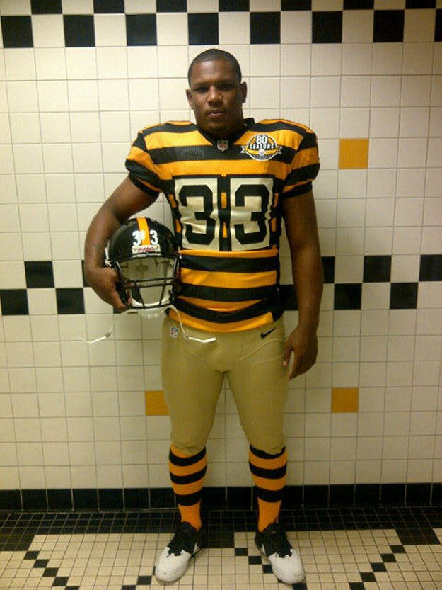8781809363d Pittsburgh Steelers throwback uniforms to celebrate the franchise's 80th  anniversary (inspired by 1934 jersey). Ye gods, this may be the worst  looking ...
