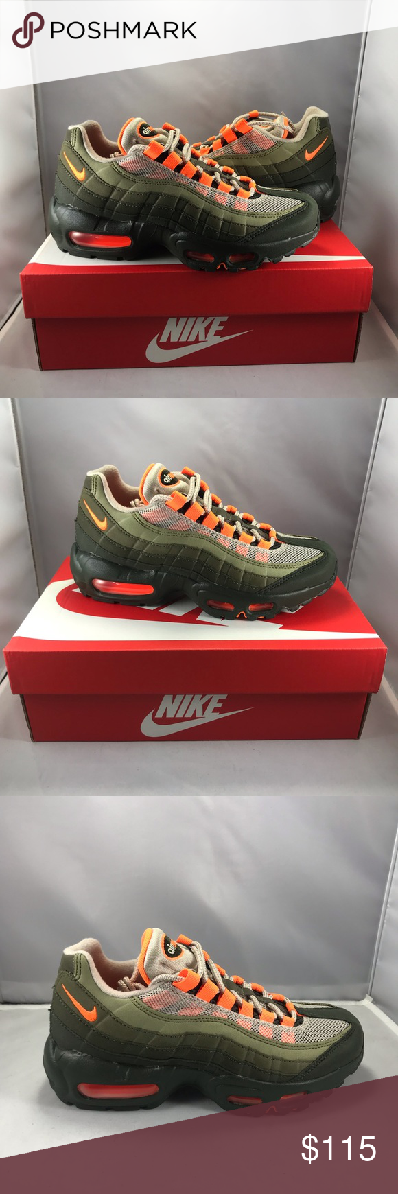 best loved e09c6 ea971 Nike Shoes | Nike Air Max 95 Og Neon Orange And Neutral ...