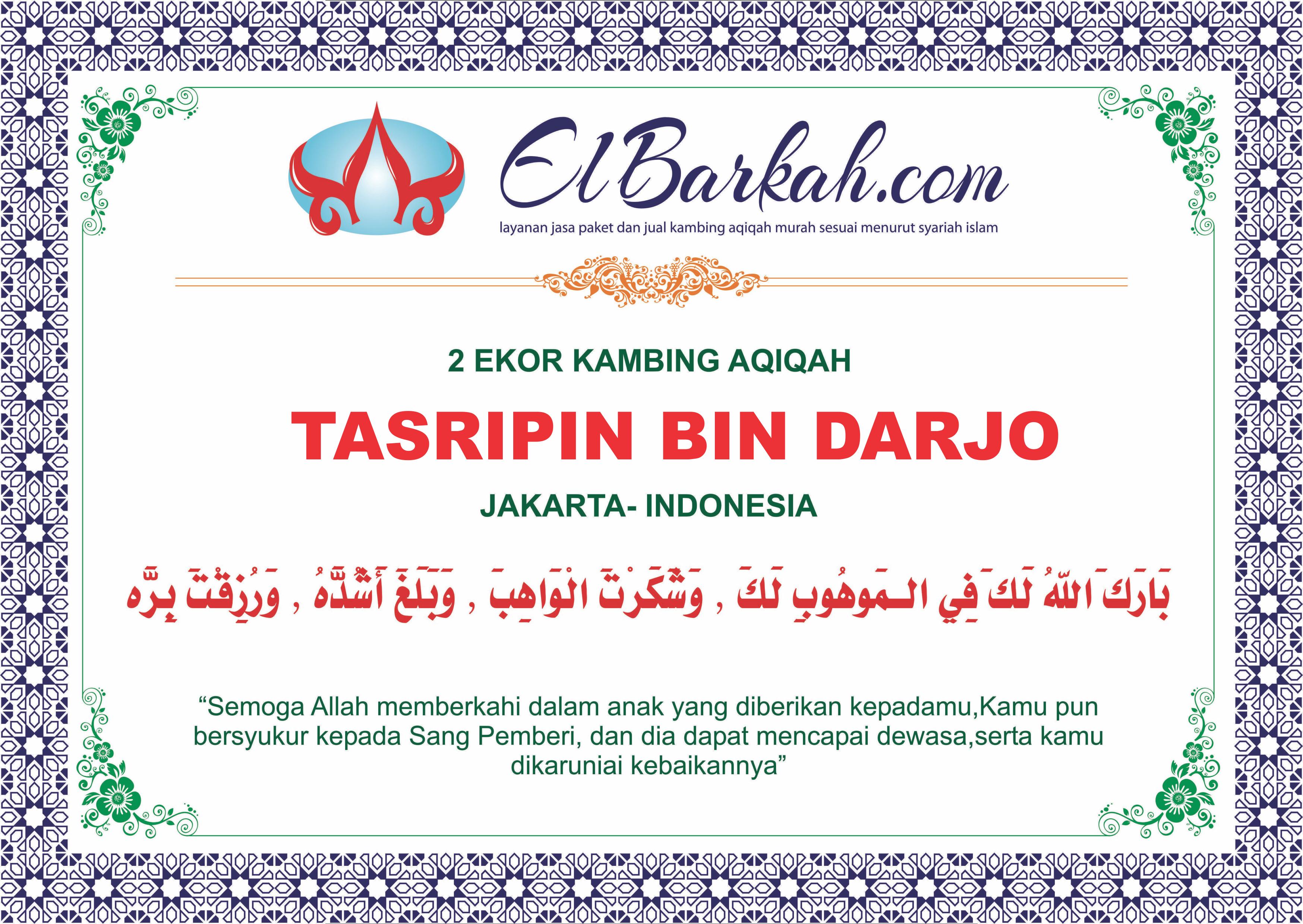 Doa Aqiqah Untuk Tasripin Bin Darjo Melalui Jasa Aqiqah Elbarkah Di Jakarta Utara Jakarta Pixel Doa