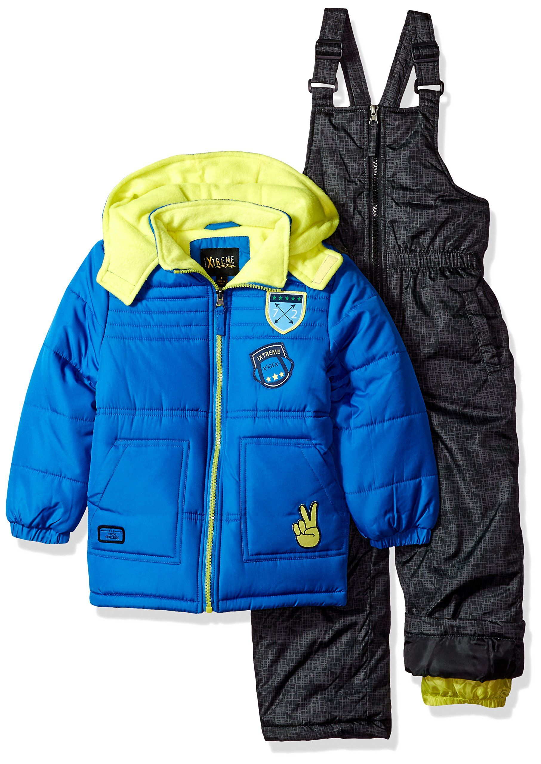 13c84c48d iXtreme Little Boys  Quilted Snowsuit with Patches