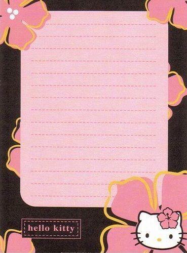 Hello Kitty Sanrio Letter Paper Hello Kitty Printables Hello Kitty Wallpaper Hello Kitty Items