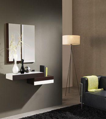 meuble d entree suspendu contemporain