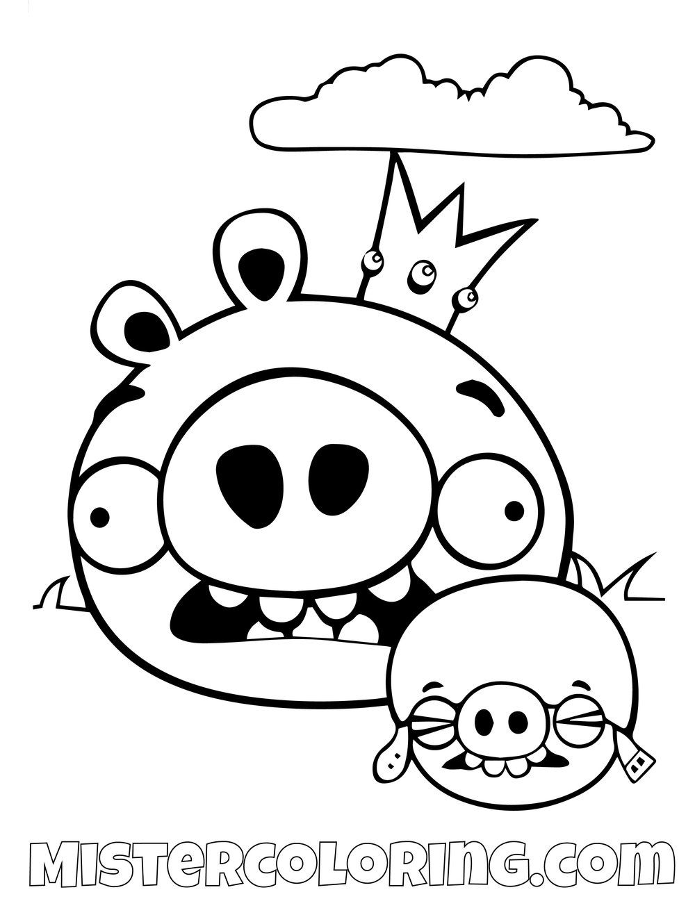 King Pig Angry Birds Coloring Pages Bird Coloring Pages