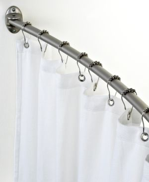 Charming Charter Club Curved Shower Curtain Rod   White
