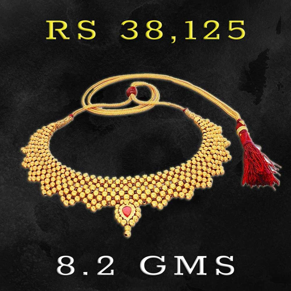 Kalyan Jewellers 22kt Gold Necklace Designs Under 10 Grams With Price Gold Necklace Designs Necklace Designs Gold Necklace