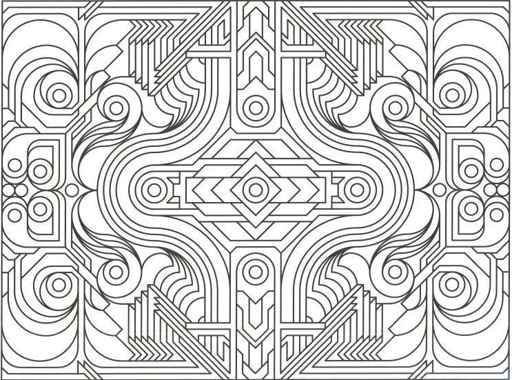 Geometric Design Coloring Pages Printable Geometric Coloring Pages ...