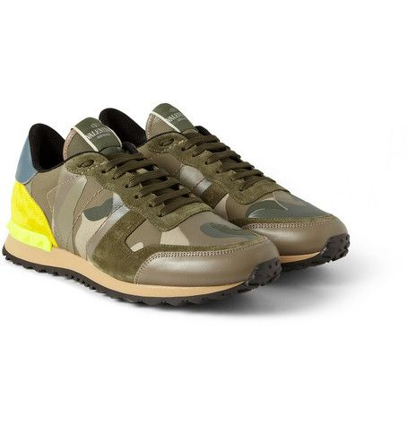 Valentino Panelled camouflage sneakers N99mbxp9X