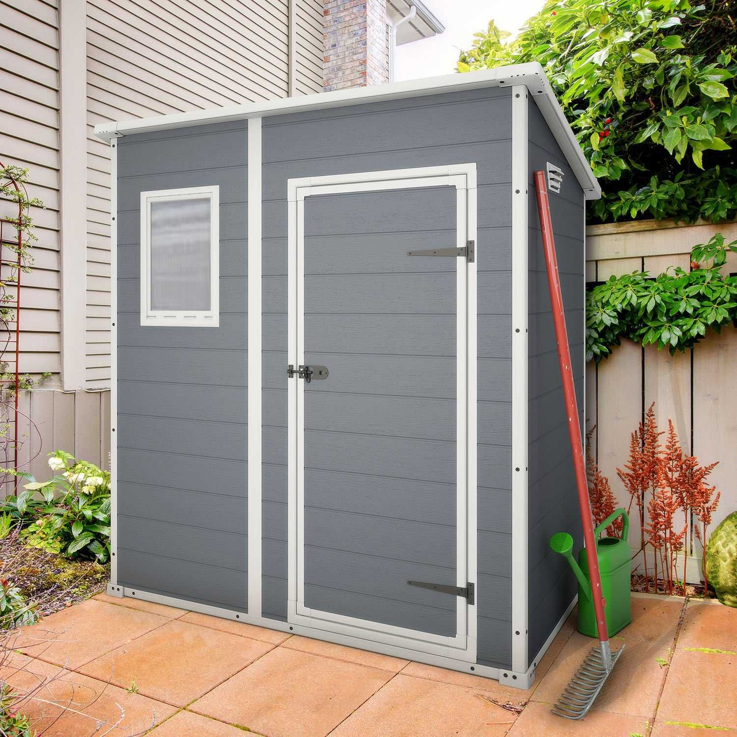 keter pent 6x4 plastic garden shed