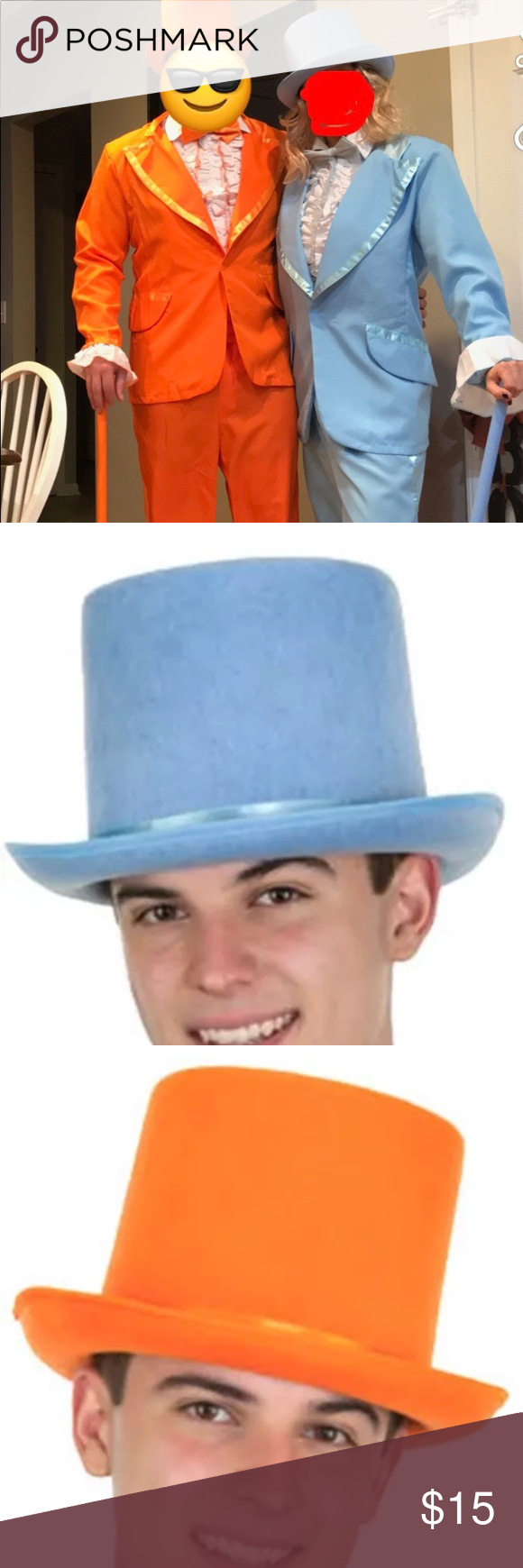Hard top Hats Baby blue top Hat used for a costume comes from Smoke free  home Accessories Hats 16c3050b5bc