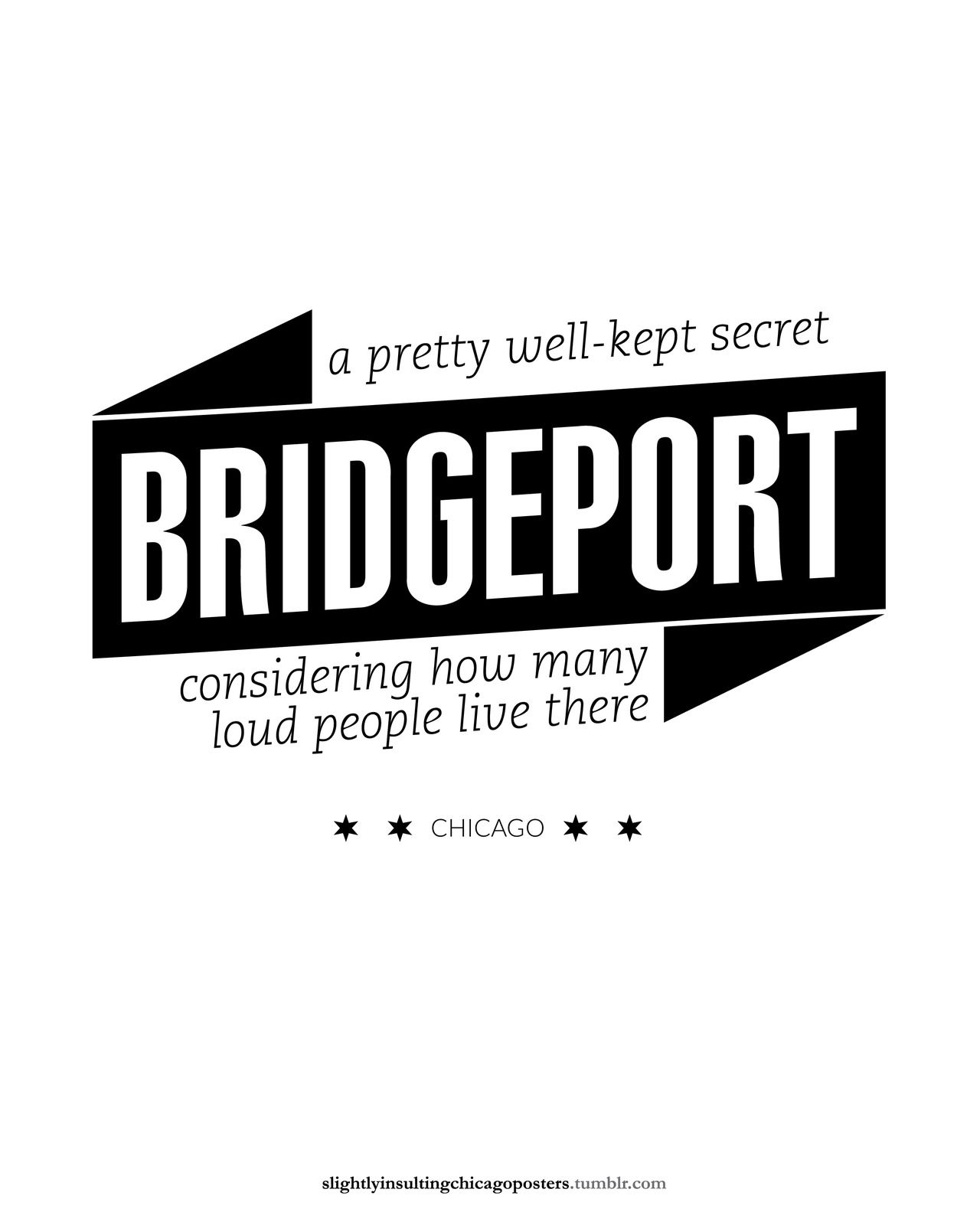 Bridgeport | Slightly Insulting Chicago Posters