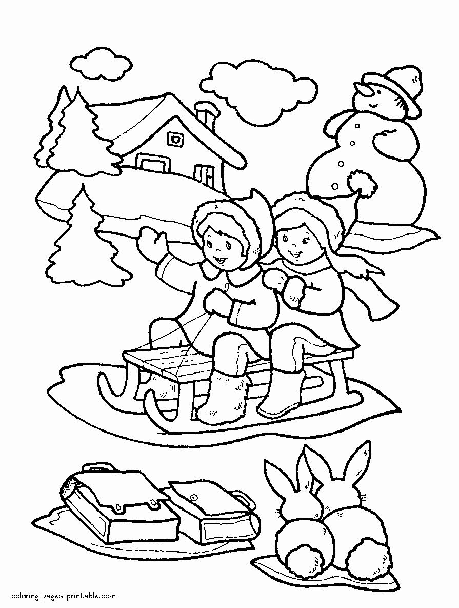 15++ Printable winter themed coloring pages information