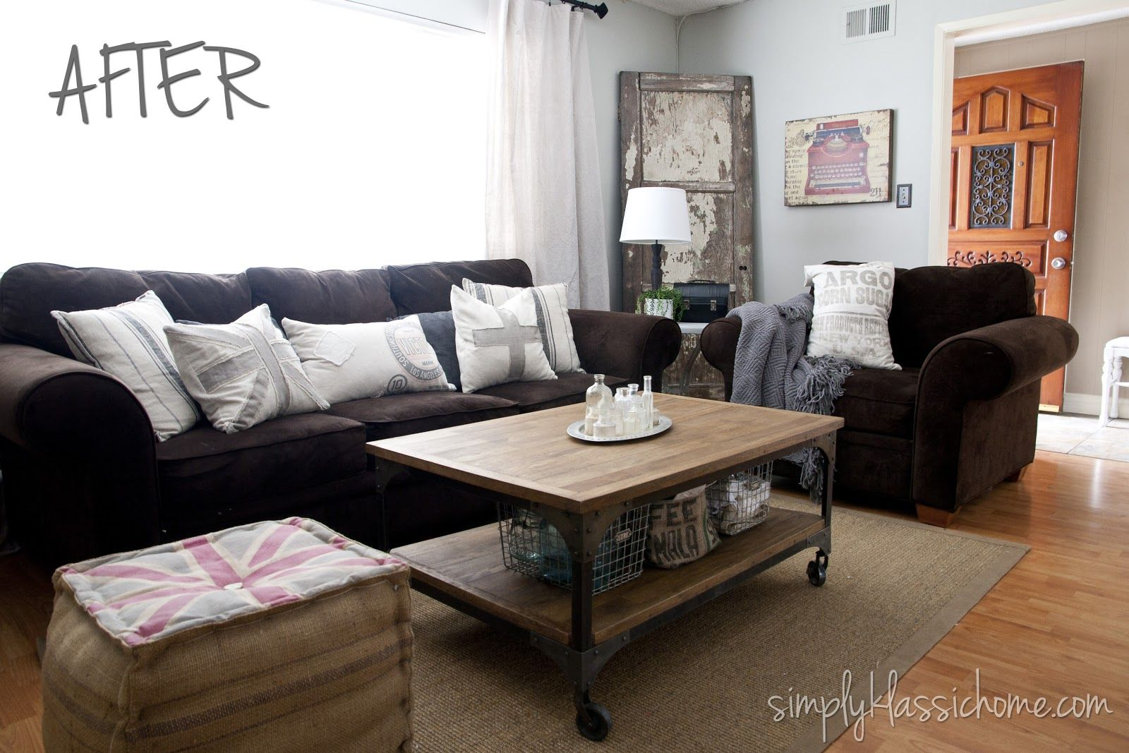 Simply Klassic Home Industrial Blend Living Room Makeover