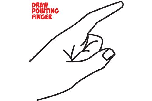 How to Draw a Pointing Hand Side View : How to Draw