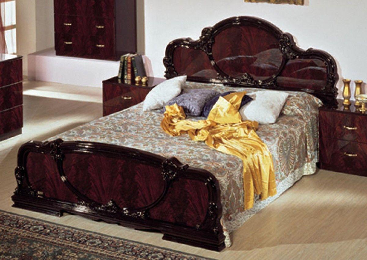 Modrest Serena Mahogany Traditional Italian Bed VGSERENA