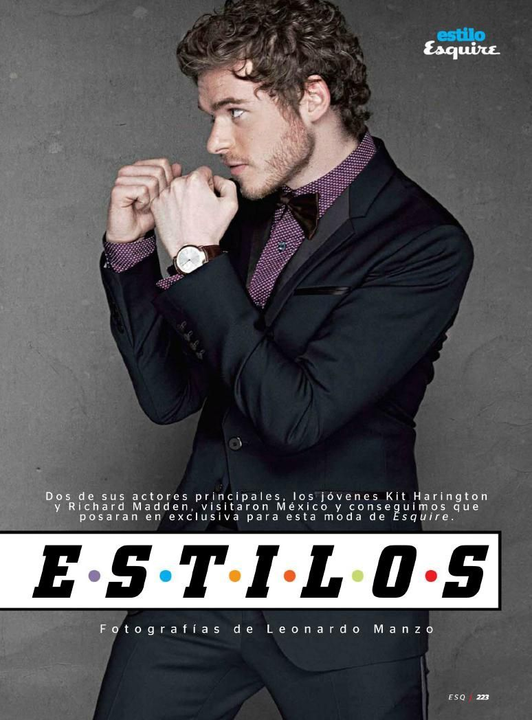 Richard Madden in Esquire Mexico Richard madden, King in