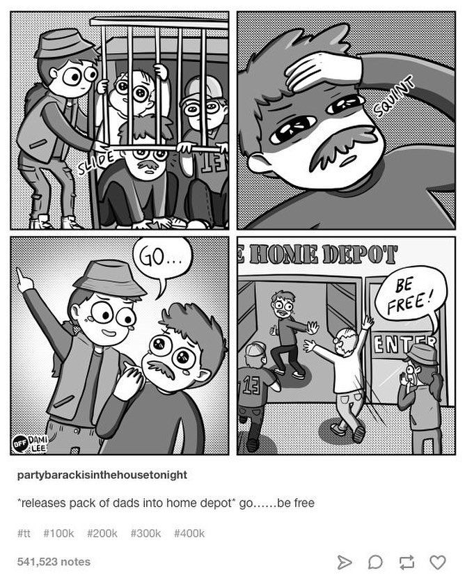 Dami Lee Dami Lee On Instagram If You Love Something Let It Go Based On A Tumblr Post By Partybarackisinthehouse Funny Comics Happy Daddy Funny Pictures