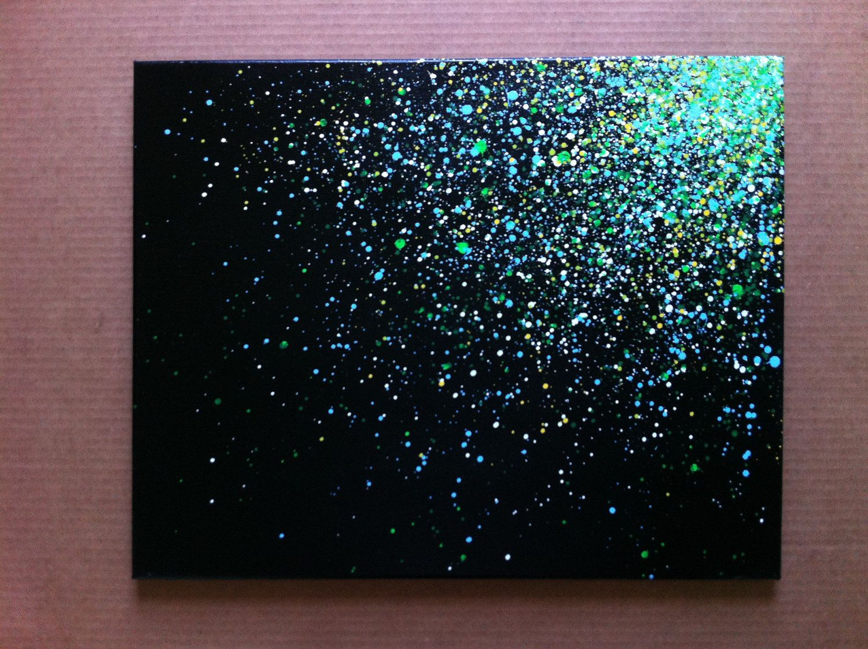 16x20 Paint Splatter Canvas Painting Ideas Art