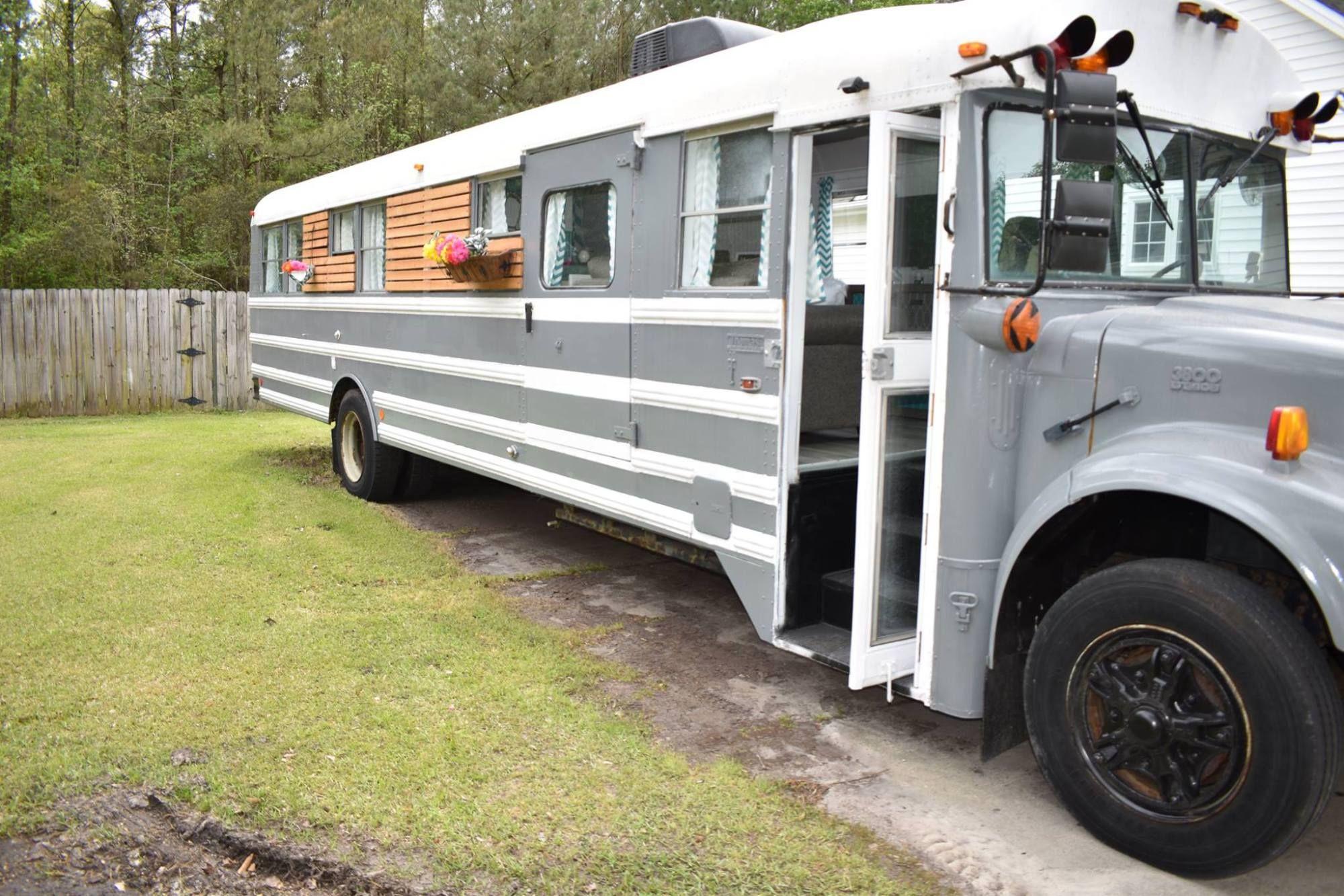 Remodeled School Bus Conversion (Skoolie) | Interior Design