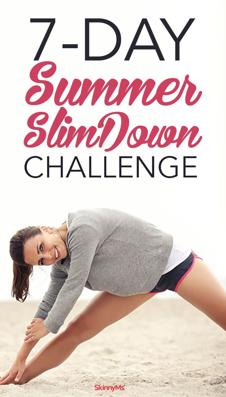 7-Day Slim Down Challenge | How to slim down, Tummy