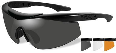 Wiley X Talon Ballistic Safety Glasses Kit with Matte Black Frame and Smoke,  Clear and