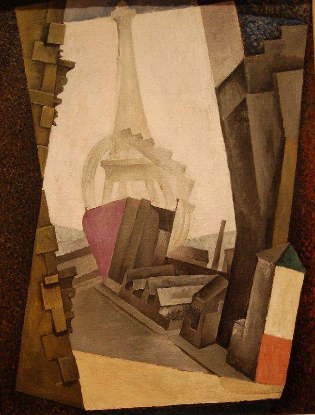 The Eiffel Tower, 1914 by Diego Rivera